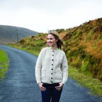 Ladies Hand Knitted Lumber Cardigan