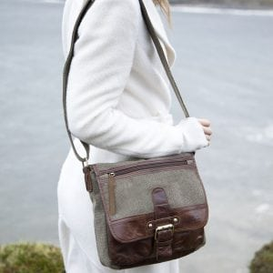 Irish Tweed & Leather Buckle Bag