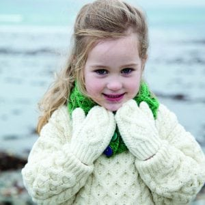 Kids Traditional Aran Mittens