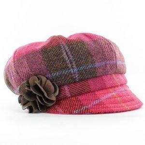 Pink Newsboy Hat