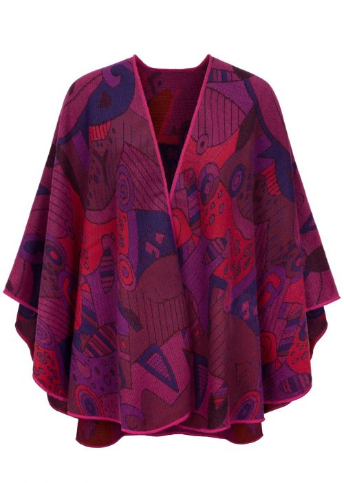 Celtic Design Irish Shawl Fushia