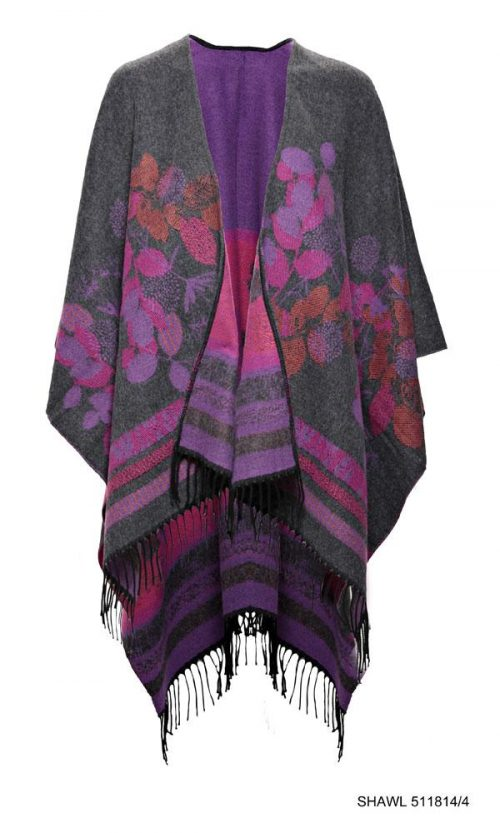 Celtic Design Shawl Grey