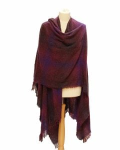 Celtic Ruana Wild Berry Check