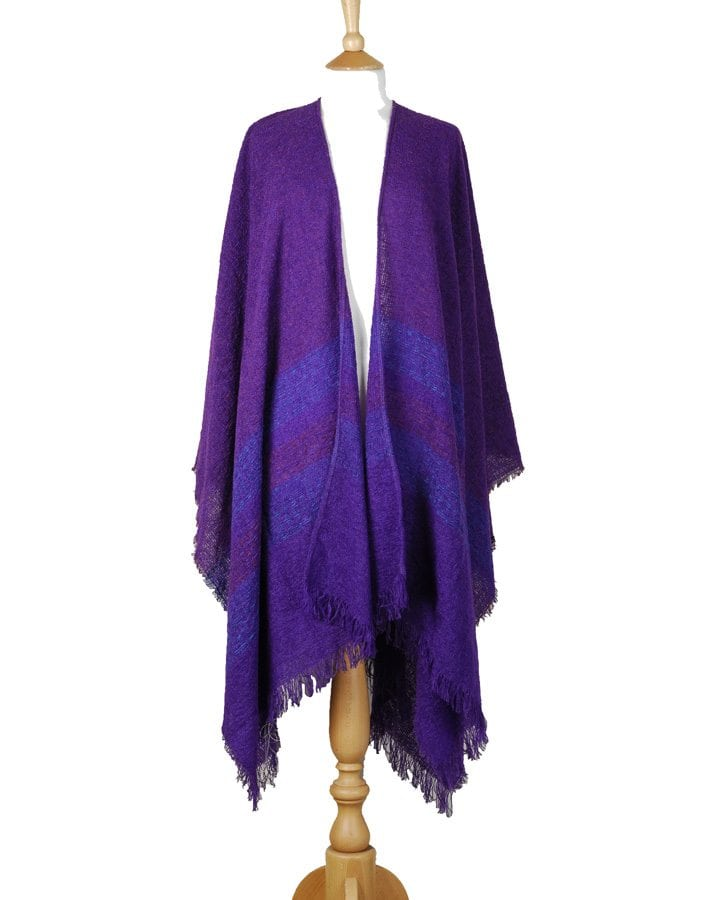 Celtic Ruana Purple