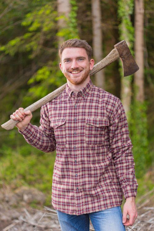 Claret Fleece Lined Shirt