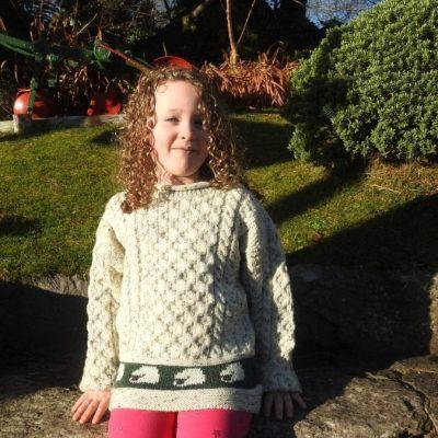 Kids Aran Sheep Sweater