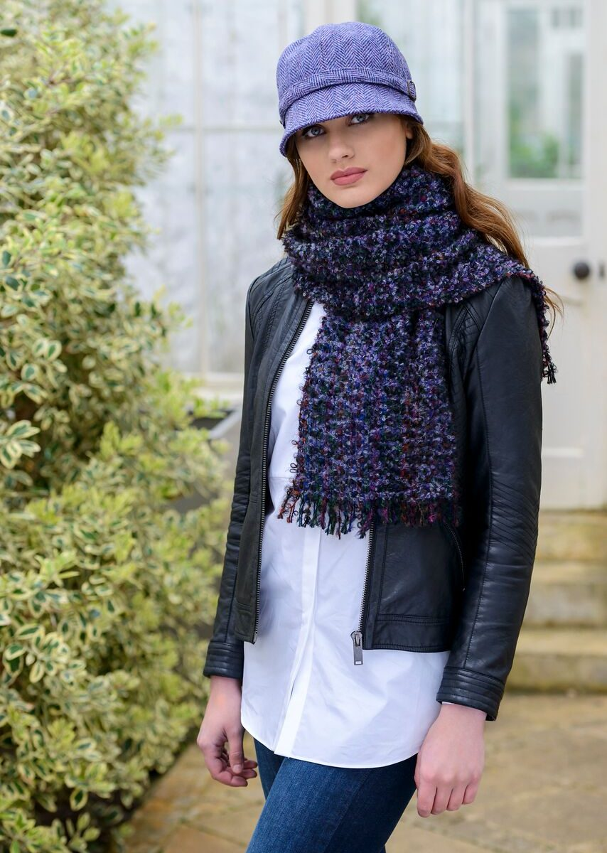 Purple Mix Mohair Scarf
