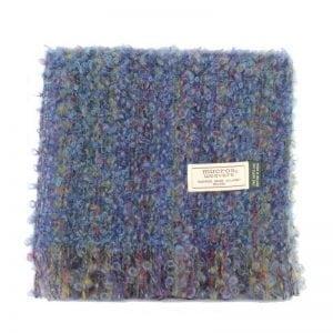 Blue Mix Mohair Scarf