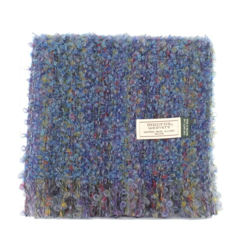 Blue Mix Mohair Scarf