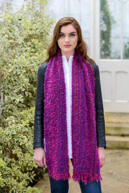 Pink & Purple Mix Mohair Scarf