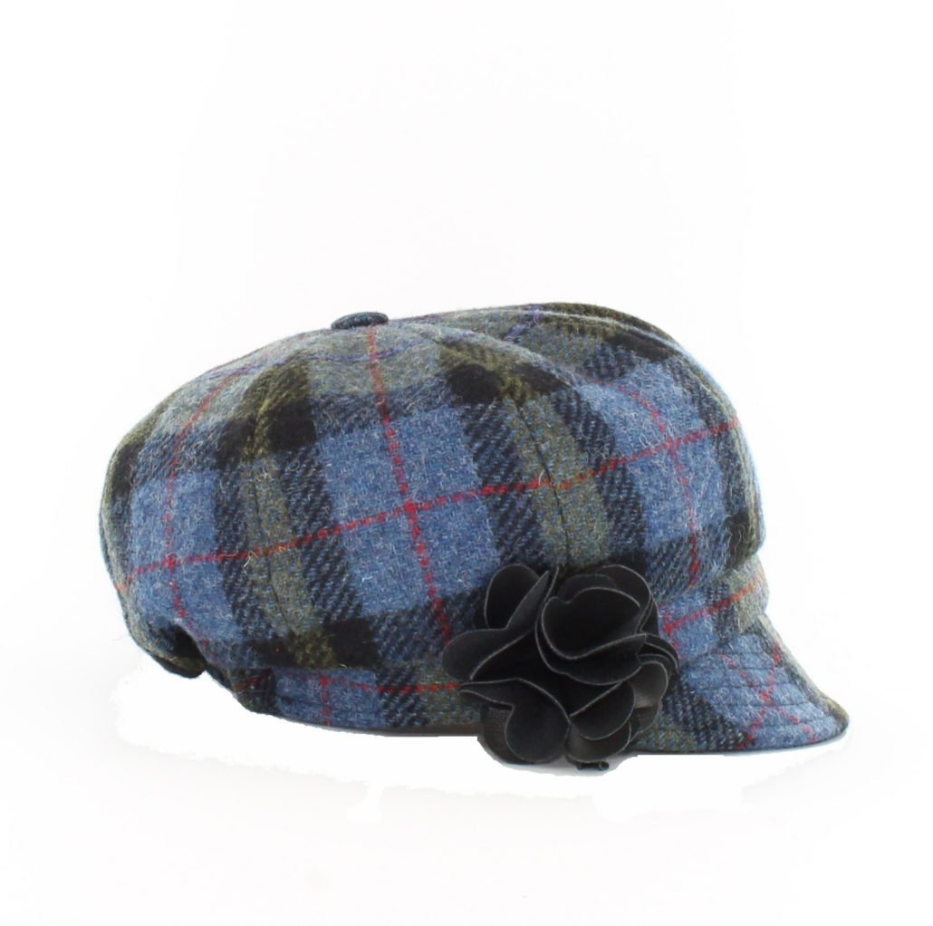 Blue & Green Newsboy Cap