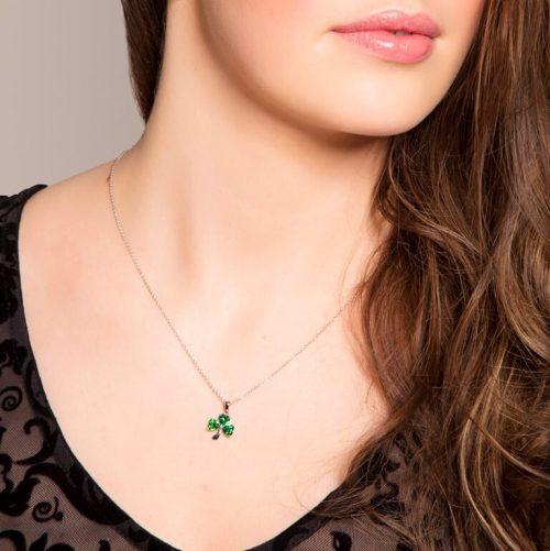 Emerald Shamrock Pendant