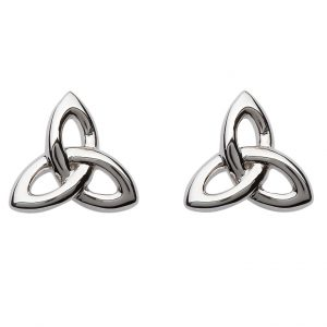 Silver Celtic Trinity Knot Stud Earrings