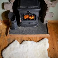 White Irish Sheepskin