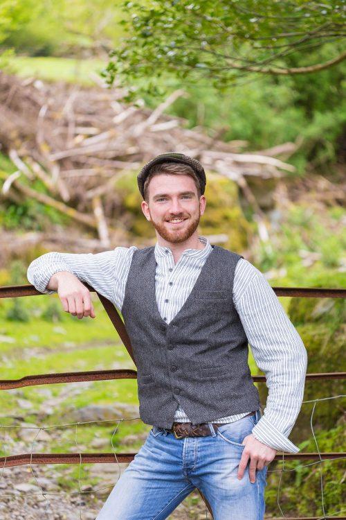 Tweed Grey Herringbone Vest