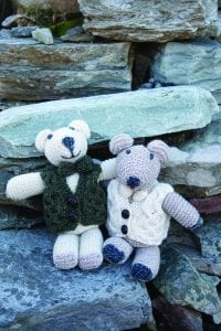 Aran Teddy Bear with Bow