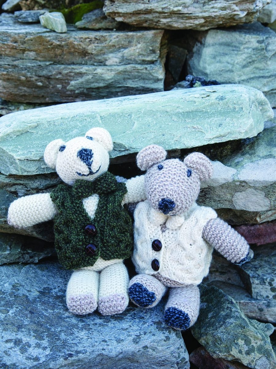 Aran Teddy Bear with Bow