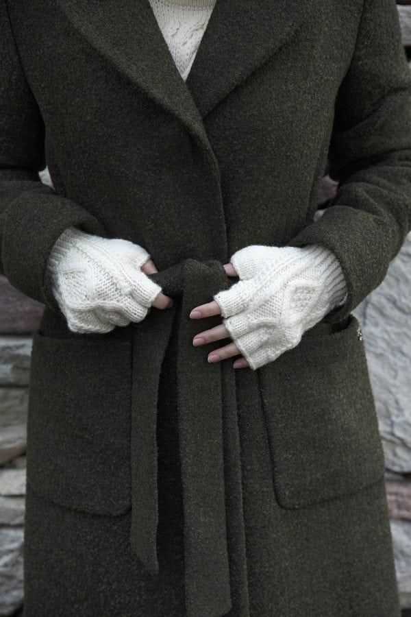 Aran Fingerless Gloves