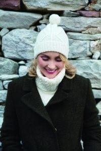Ladies Aran Ski Hat