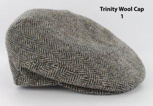 Men's Grey Herringbone Trinity Cap