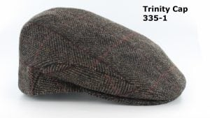 Men's Dark Brown Herringbone Trinity Cap