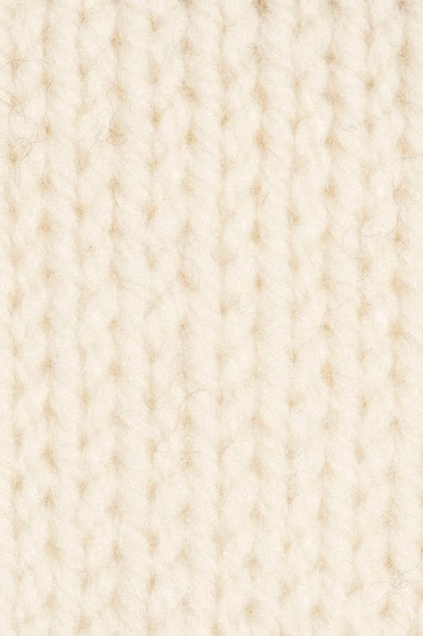 Handknit White Swatch