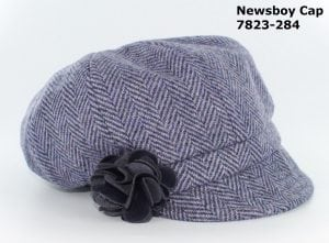 Pastel Purple Herringbone Newsboy Cap
