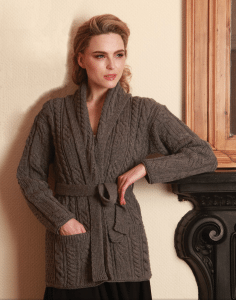 Shawl Cardigan with Belt