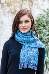 Blue Mohair Viscose Scarf