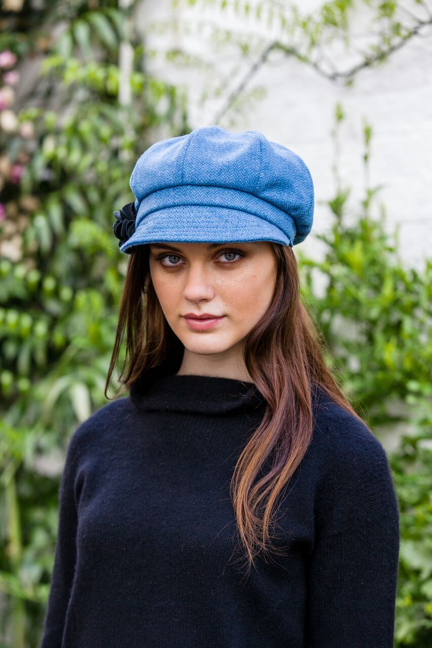 Blue Newsboy Hat