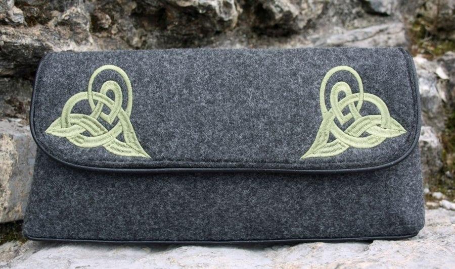Celtic Felt Clutch Bag
