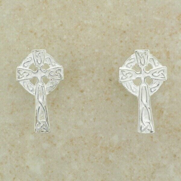 Celtic Cross Studs