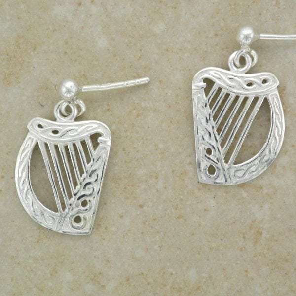 Celtic Harp Earrings