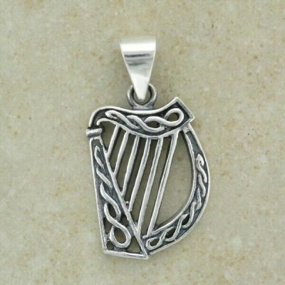 Celtic Harp Pendant