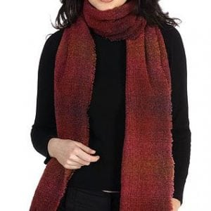 Celtic Lambswool Scarf Red Check