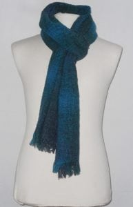 Celtic Lambswool Scarf Teal Check