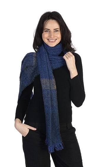 Celtic Lambswool Scarf Cobalt