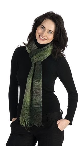 Celtic Lambswool Scarf Moss Green