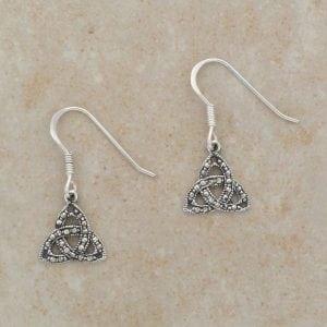 Celtic Trinity Earrings (w/ Marcasite)