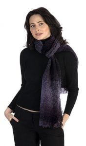 Celtic Lambswool Scarf Plum Check