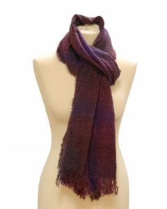 Celtic Lambswool Scarf Wild Berry Check