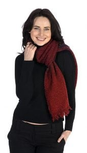 Celtic Lambswool Scarf Rich Red