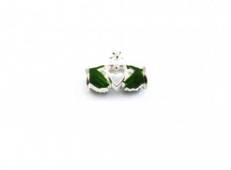 Claddagh (Green Hands) Celtic Charm