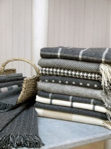 Dublin Check Lambswool Throw
