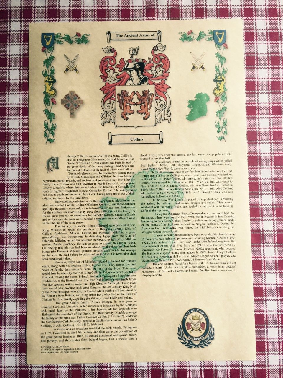 5833cad63bedc Coat of Arms and Surname History
