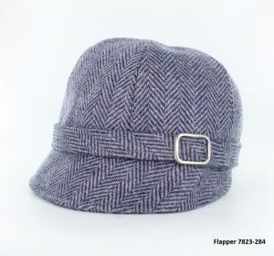 Pastel Purple Herringbone Flapper Hat