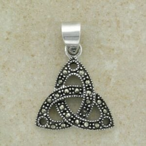 Celtic Trinity Marcasite Pendant