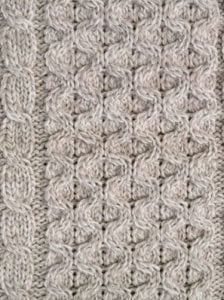Traditional Knitted Aran Scarf
