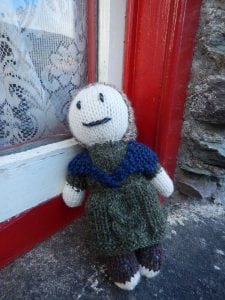 Hand-knitted Woman of Aran Teddy