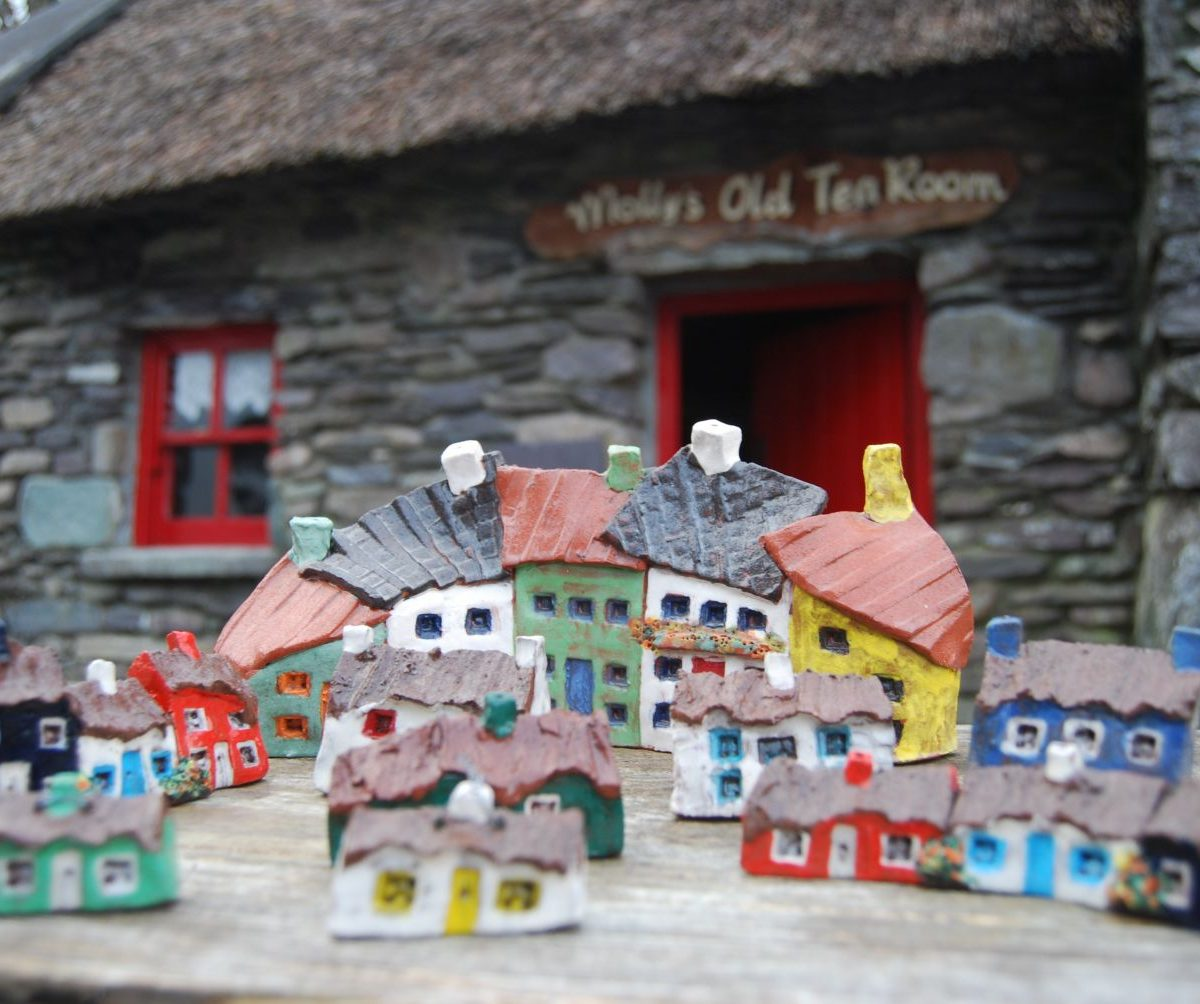 Small Thatched Irish Pottery Cottage